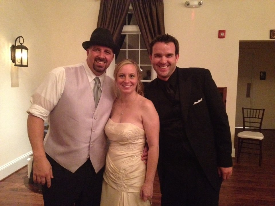 Shaun and Beth after their wedding with Eric Herod